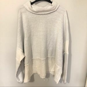 Free People Multi Fabric Sweatshirt